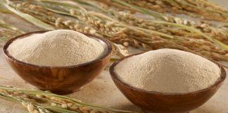 bột gạo giúp trắng da