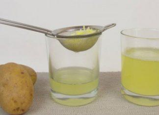 Dùng nước ép khoai tây